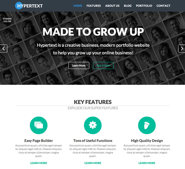 Hypertext WordPress Responsive Theme