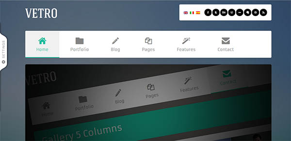 Vetro – A Flat UI WordPress Theme